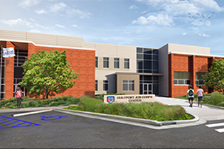 Job Corp redesign Eley Guild Hardy rendering