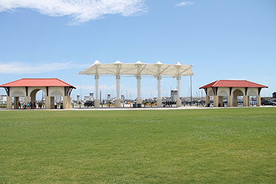 Amphitheater Area with Flanking Pavilions